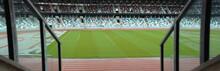 WIDE View Of Empty Stadium Sea...
