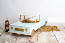 Wooden Car For Photography Jus...