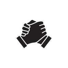 Soul Brother Handshake Icon, Thumb Clasp Handshake Vector Illustration