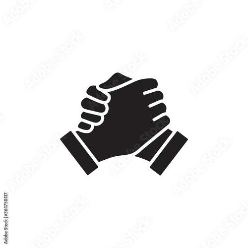Photographie Soul brother handshake icon, thumb clasp handshake vector illustration