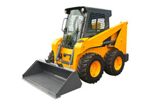 Skid Steer Loader Isolated On A White Background