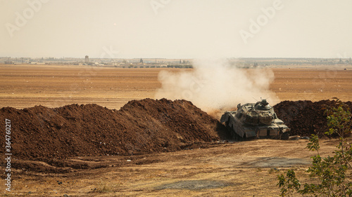 tank on the hill Canvas Print