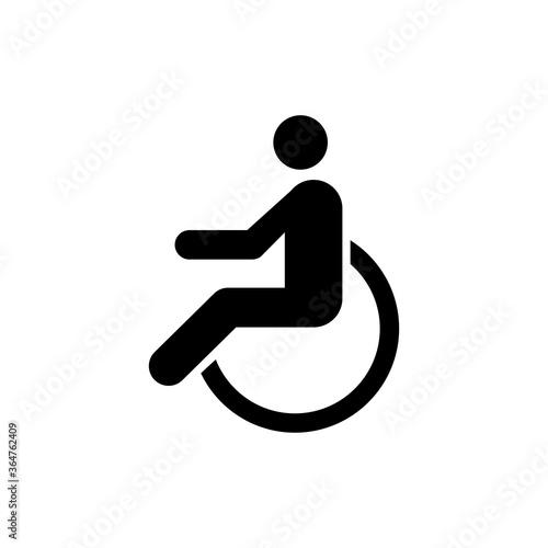 Tableau sur Toile Disabled, Wheelchair Handicap, Cripple