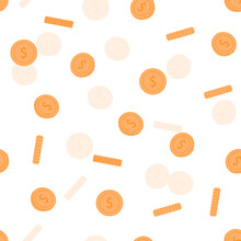 Coins Pattern Background Vecto...