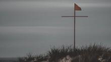 Cross Shaped Flag Pole With A ...