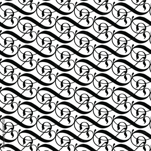 Fényképezés vector convoluted  seamless pattern background tile  with abstract lines