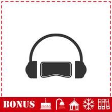 Virtual Reality Icon Flat