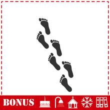 Footprint Icon Flat