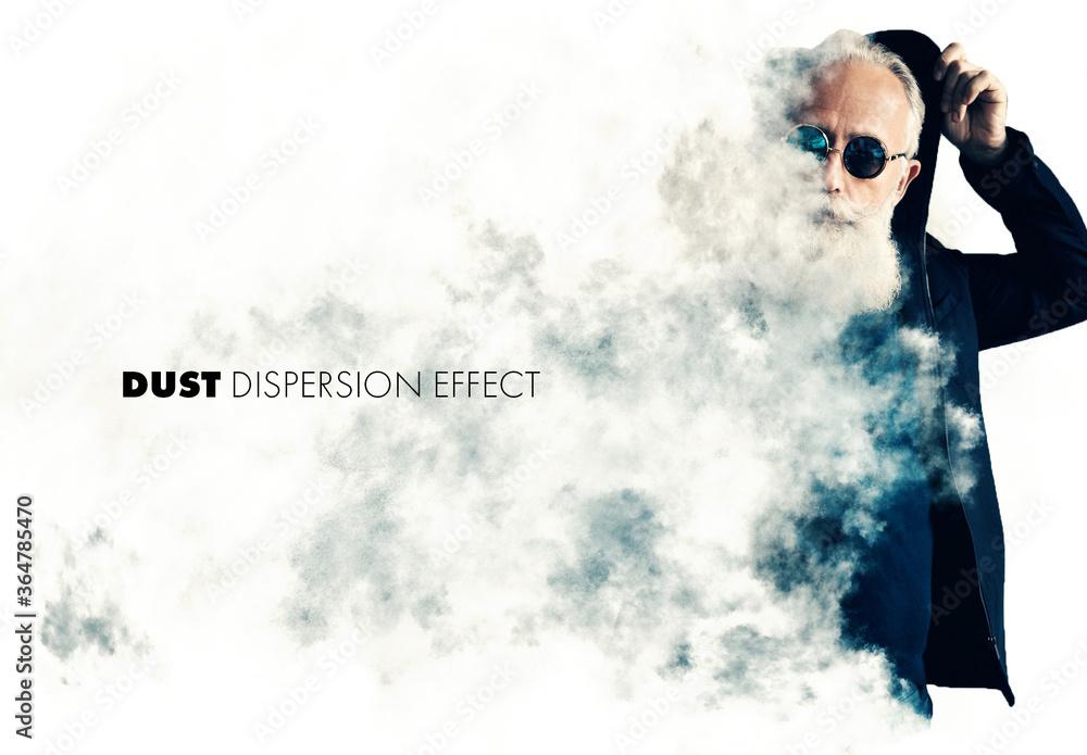 Fototapeta Dust or Smoke Dispersion Effect Mockup