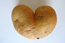 A Potato In A Shape Of A Heart, White Background