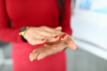 Close-up Of Woman Clapping Han...