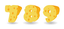 Set Of Cheese Numbers. Vector ...