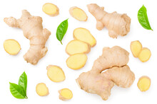 Ginger Roots With Slices And G...
