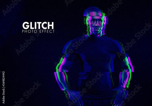 Fototapeta Glitch Photographic Effect obraz