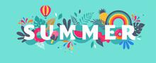 Summer Sale Banner Template. V...