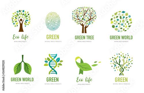 World Environment day, go green concept design Canvas-taulu