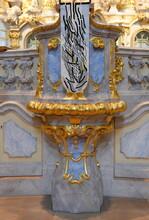 Prunkvolles Detail Im Inneren Der Frauenkirche