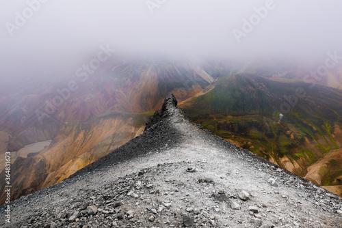 Weg in den Nebel Canvas Print
