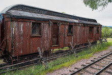 Old Abandoned Red Boxcar Train...