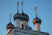 Old Orthodox Church Cupolas At...
