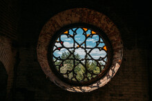 Round Stained Glass Window In ...