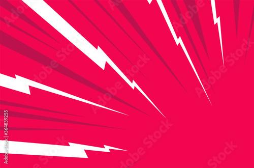 Fotografiet White Thunder, red background