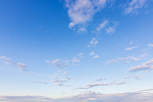 Partly Cloudy Sky At Just Befo...