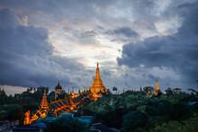 The Golden Shwedagon Pagoda Du...