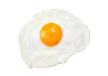 Fried Egg Isolated On White Ba...