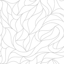 Vector Leaves Of A Seamless Pa...