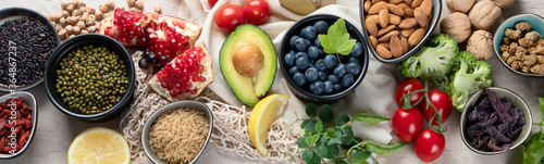 Healthy food selection Wallpaper Mural