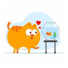 Cartoon Of Fluffy Cat Playing...