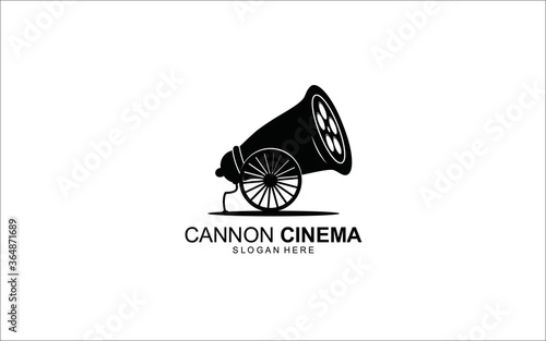 cannon cinema logo design combinaton Symbol Illustration Wallpaper Mural