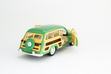 Classic Toy Car On A White Background