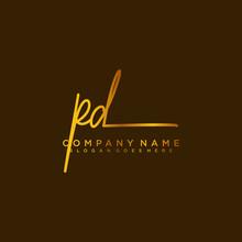 PD Initials Signature Logo. Ha...