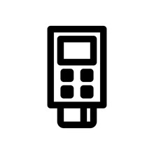 Contactless Payment Purchase Icon. Debit Or Credit Card And POS Terminal. Vector Illustration.