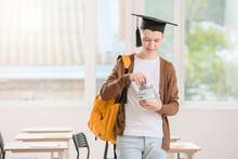 Teenage Boy With Savings For E...