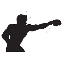 Silhouette Of A Boxer