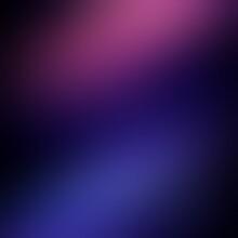 Blue Pink Blur Spotlights Pattern On Black Background.