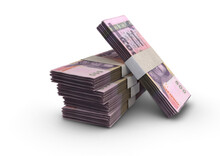 Thai Baht Notes Pile