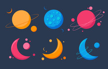 Planet Icon Set. Planets Astro...