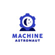 Machine Astronaut Spaceship Logo Vector With Technology Concept For Company