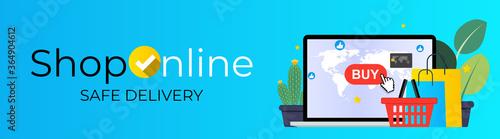 Online Shopping Concept Fototapeta