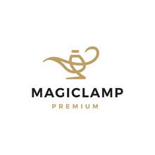 Magic Lamp Logo Vector Icon Illustration