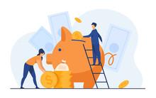 Saving Money Financial Concept...