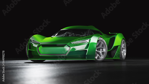 Fototapety, obrazy: 3D rendering of a brand-less generic car