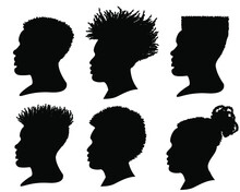 Silhouette African American Me...