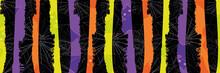 Halloween Grunge Stripe And Sp...