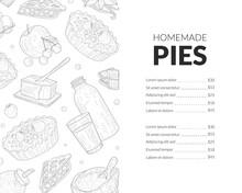 Homemade Pies Menu Template, B...