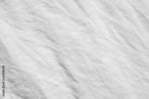Fotografering white wrinkle cotton shirt fabric cloth texture pattern background